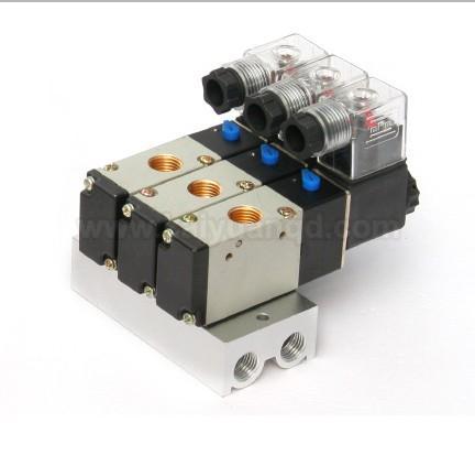 电磁阀 两位五通电磁阀-4v110-06图片