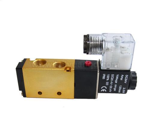 二位五通先导式电磁阀 4v110-06,4v210-08,4v310-10,4v410-15